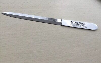Letter Opener, Advertising Moss Bros, Covent Garden