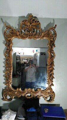 (1)Authentic Antique LaBarge Wood Rococo Mirror, hand carved & gilted from Italy