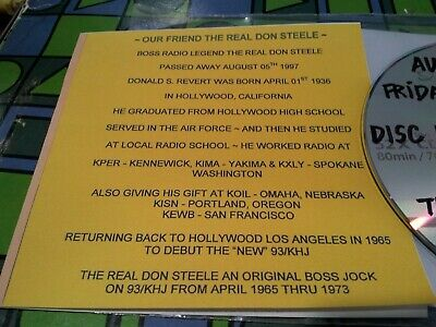 The Real Don Steele Remembered August 08 1997 & September 1994 ~ Krth 101  3 Cd
