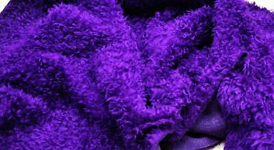 CURLY Teddy Faux Fur Fabric Material - PURPLE