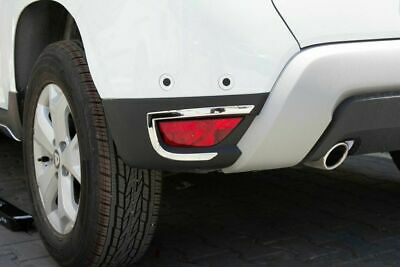 Dacia Duster 2018 Up Chrome Exhaust Deflector Frame 2 pcs Stainless Steel