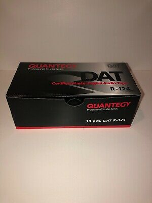 Quantegy DAT R-124 Digital Audio Tape New Old Stock (Box of 10) Sealed Box