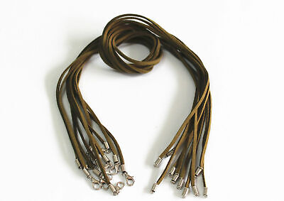 Wholesale 10pcs army green Suede Leather String 20 inches (50cm) Necklace Cords