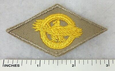 WW2 Vintage US ARMY RUPTURED DUCK HONORABLE DISCHARGE PATCH on TAN TWILL