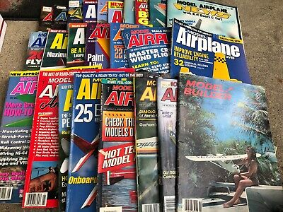 FRB-#731 LOT OF 25 MODEL AIRPLANE magazines from 1970s thru 2000s