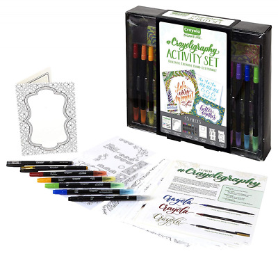 Crayola Calligraphy Activity Set Strater Kit Hand Lettering Tutorials Practice