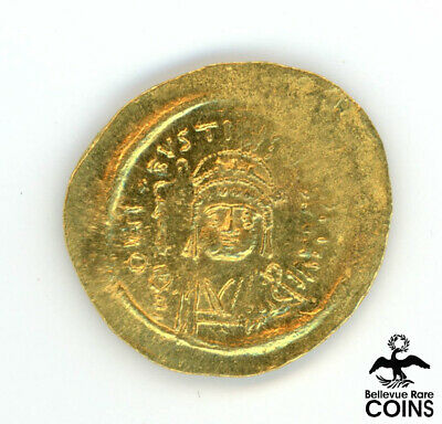 Ancient Byzantine Empire Justinus II (A.D. 565-578) Solidus Gold Coin (4.4 g)