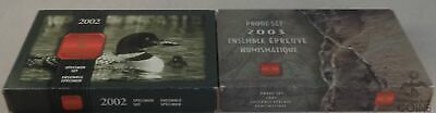 Royal Canadian Mint 2002 Specimen Set + 2003 Proof Set with Box/COA!