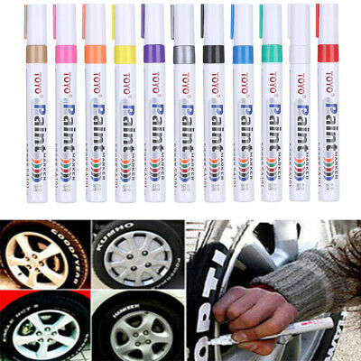 Tool Waterproof Touch Up Permanent Paint Pen Tire Tread Rubber Car Tyre Marker