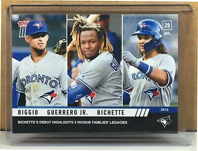 2019 Topps Now #599 Cavan Biggio Vladimir Guerrero Jr. Bo Bichette Blue Jays Rc