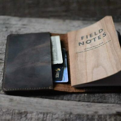 """Leather Journal Cover Field Notes Moleskine Cahier Notebook Pocket 3.5X5.5"""""""