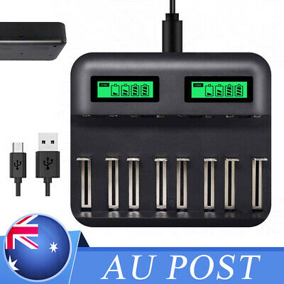 8 Slots Lcd Display Usb Smart Battery Charger For Aa Aaa Sc C D Size Rechar C6C5