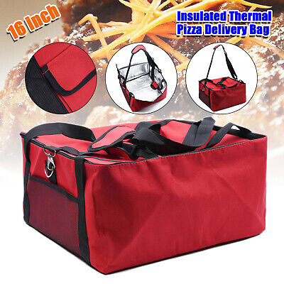 "Hot Food Large Delivery Bag 16.5*16.5*9"" In Take Away Kebab Indian Chinese Pizza"