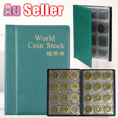 120 Coins Money Storage Pockets Collecting Holder Book Penny Collection Album