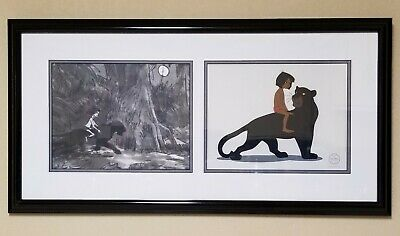 """DISNEY """"Mowgli's Mentor"""" & """"The Jungle Book"""" Limited Edition Animation Art Combo"""
