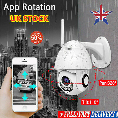 UK 1080P WIFI IP Camera WHITE Wireless Outdoor CCTV HD Home Security IR Cam 2MP