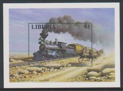 "Liberia - 1994, 4-4-0 Locomotive, No. 11 ""The Reno"" sheet - MNH"