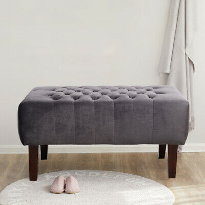 Luxurious Postmodern Shoe-wearing Stool Velvet Fabric Footstools Ottoman Bench