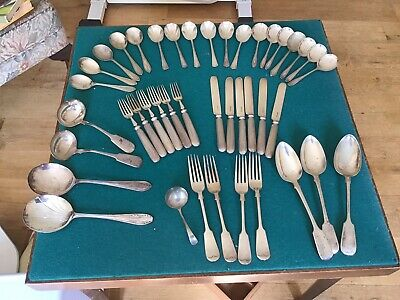 Collection of Assorted Antique & Vintage Plated Cutlery.