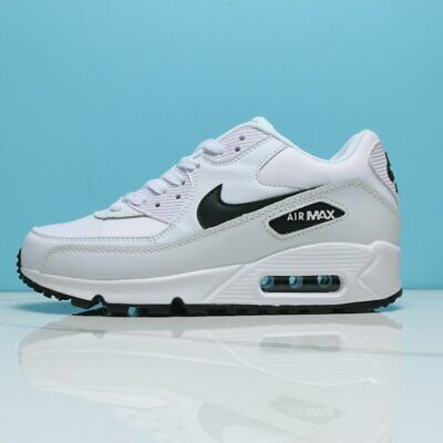 AIR MAX 90 Mens / Womens Trainers BLACK & White classic sneaker Running Shoes