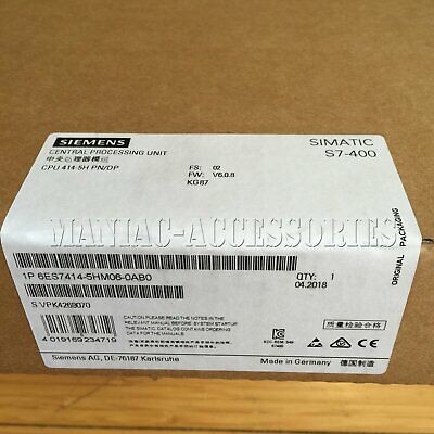 1pc new Siemens 6ES7 414-5HM06-0AB0 SIMATIC S7-400H CPU414 DHL free shipping