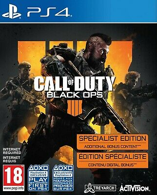 Call of Duty: Black Ops 4 Specialist Edition [PlayStation 4 PS4 Region Free]