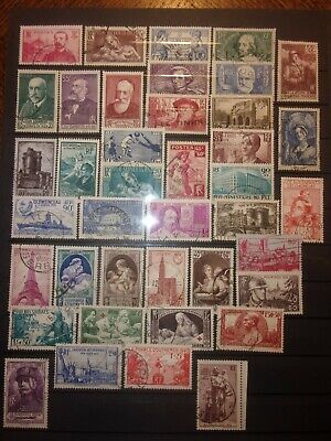 France Lot 40 Timbres Obliteres. Bonne Cote