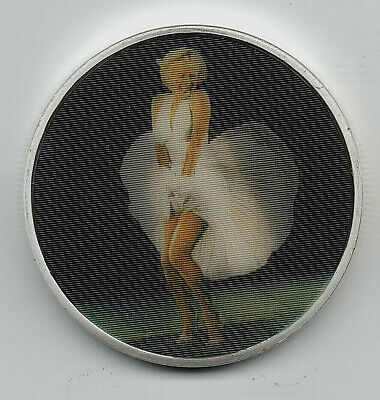 Marilyn Monroe Silver 3D Coin White Dress Skirt Wind Blows Up Movie Star Film UK