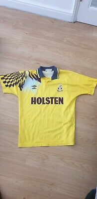 Tottenham Spurs Yellow Away Shirt 1991-95 Umbro Holsten