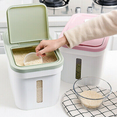 Kitchen Grain Storage Case Box Seal Container Rice Flour Food Cereal Dispenser