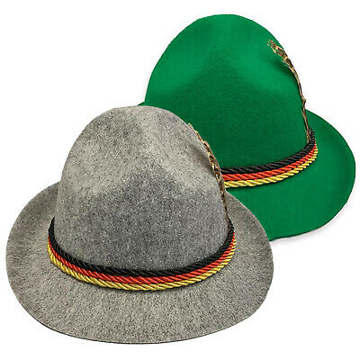 Mens Oktoberfest Hat German Trenker Bavarian Beer Party Fancy Dress Accessories