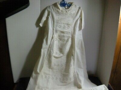 Antique Victorian child's dress Doll Baby  dress will fit reborn and other dolls