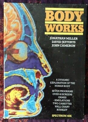 BODY WORKS Zx Spectrum 48k Game Educational Biology Human Body Computer Old UK