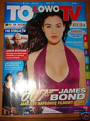 Monica Bellucci front cover, Polish mag To & Owo 2008