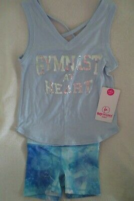 90 Degree By Reflex Girl 2 pcs Set Short And Tank Size S 7-8 New