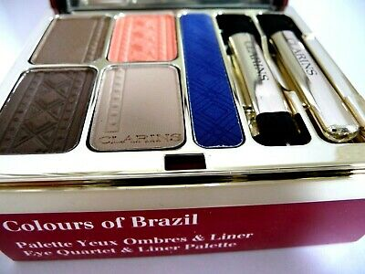 Clarins Colours Of Brazil Eyeshadow Palette BNIB Limited Edit Small Box Damage