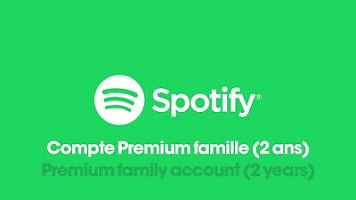 Compte Spotify Premium Famille (2 ANS) - Upgrade Premium Spotify Account