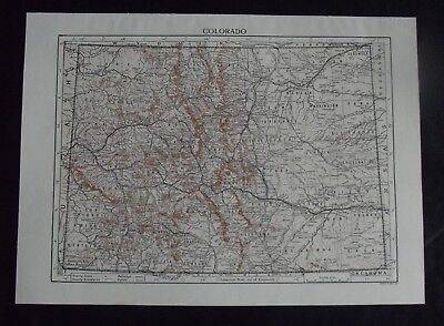 Vintage Map: Colorado, United States, by Emery Walker, c 1950s, Bi-colour