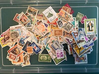 250 World Stamps, Unsorted Off Paper ,