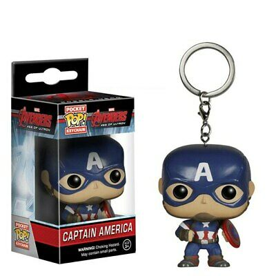 Pop Funko Marvel Avengers Infinity War Captain America Key Chain Metal Keyring