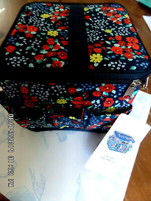 Everything Mary Petite Zip-Top Organiser - Navy Floral NEW