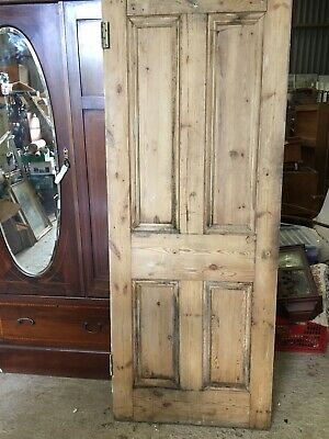 Reclaimed Old Stripped Pine 4 Panel  DOOR Reclamation Vintage Country  19/8/V