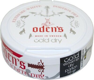 Odens Cold Dry Extreme White Dry - 10 Dosen - Chewing Bags / Kautabak