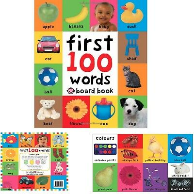 Baby First 100 Words Book Toddler Early Learning Educational Board Pictures Gift