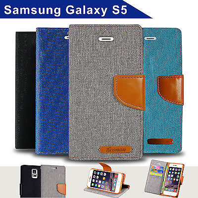 Samsung Galaxy S5 Case Wallet Cover Magnetic Case With Card Cash Coin Pocket