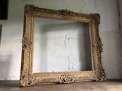 Large Antique French Gilt Gesso Picture Frame c1900