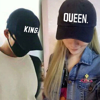 MENS WOMENS COUPLE KING QUEEN Snapback Hat Baseball Cap