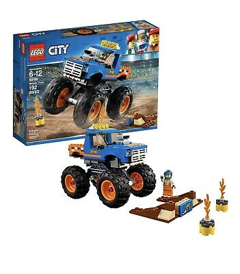 LEGO City Monster Truck 60180 Great Vehicles 192pcs Set Building Blocks Toy Kids