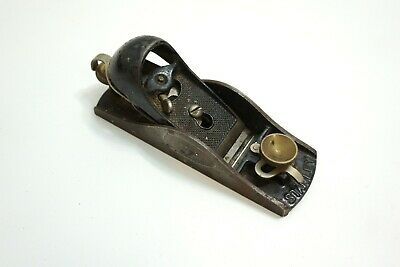 """Vintage Stanley No 9 1/2 Wood Working Plane 6.25"""" Long Smooth Bottom Brass"""