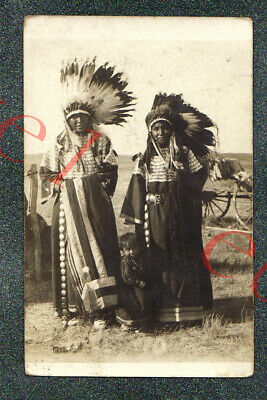 SIOUX INDIANS - PHILIP SOUTH DAKOTA PHOTOGRAPHER - circa 1905 rppc Photo GRADE 4